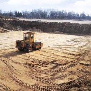 Устройство песчано-гравийных подушек