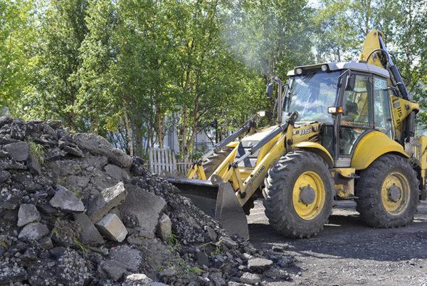 Разборка садового бортового камня