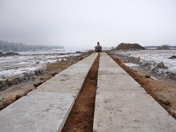 Строительство временных дорог