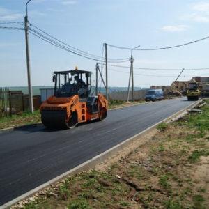 Строительство асфальтированной дороги