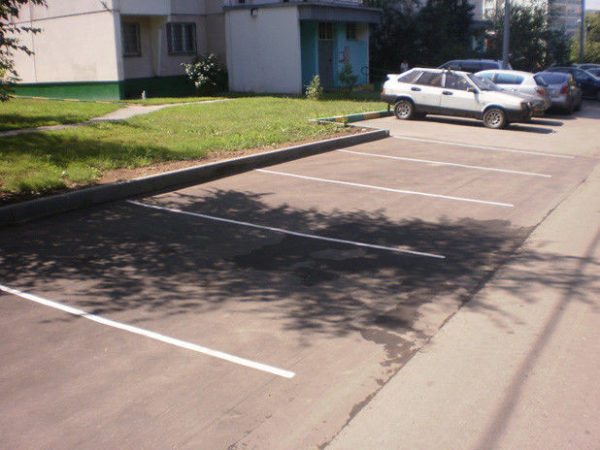 Устройство парковочного кармана