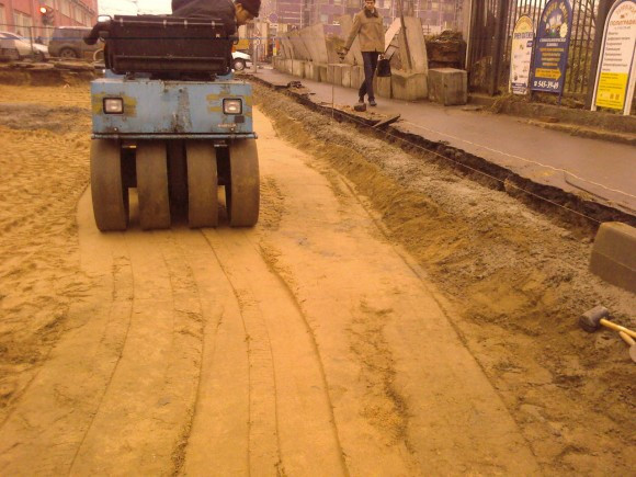 Основания из песка 30 см